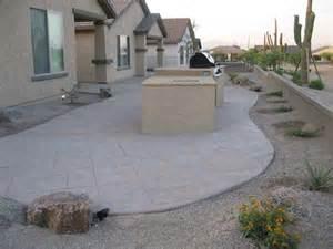 Cool Backyard Landscaping Ideas Az Landscape Concrete Flagstone Block Wall