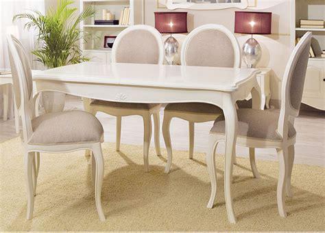 mesa de comedor extensible blanca vintage paris en