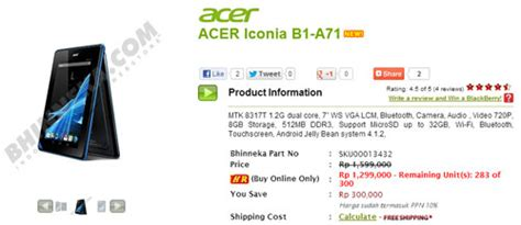 harga android acer iconia laptop tablet acer indonesia harga promo tablet android murah acer iconia b1 di