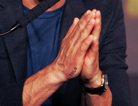 yolo tattoo on hand drake hand hsm tattoo watch image 410225 on favim com
