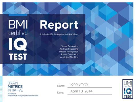 bmi certified iq test    accurate  iq test