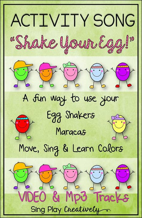 kindergarten activities music move and groove with this fun quot shake your egg quot brain break