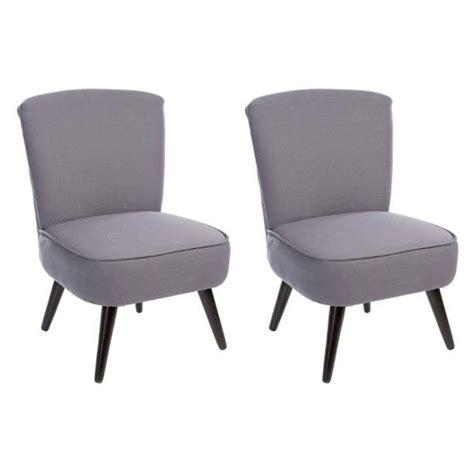 fauteuil 70 cm lot de 2 fauteuils design quot tod quot 70cm gris