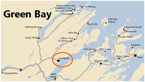 green bay map springdale nl green bay feed