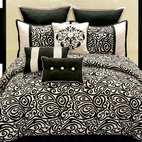 black pattern comforter sets bed bath and beyond bedding sets queen contemporary