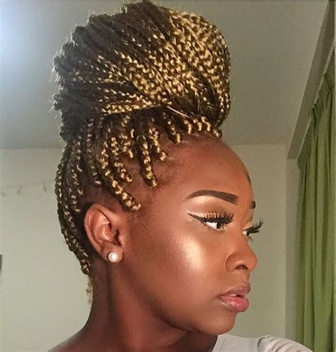 how to do a bun with braid box braids 1127 best images about inspiration for my hair a k a box
