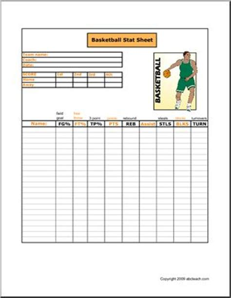 images  youth basketball score sheets