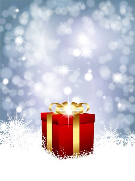 red christmas gift background vector free download