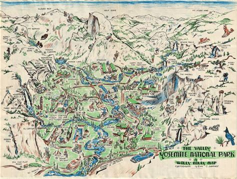 yosemite park map the valley yosemite national park a willy nilly map geographicus antique maps
