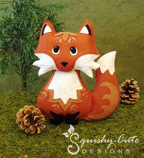 pattern for felt woodland animals red fox sewing pattern pdf woodland stuffed animal felt