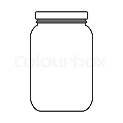 Jam Guess Blang Blank blank jar with cap isolated on white background stock vector colourbox