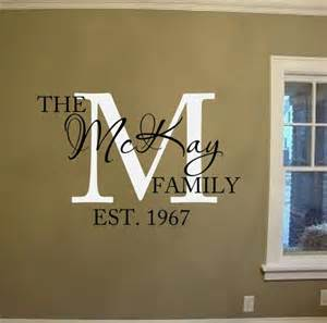family name vinyl lettering wall words decal family