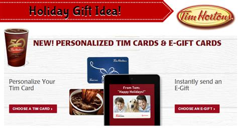 Tim Hortons Gift Card Canada - new tim hortons e gift cards