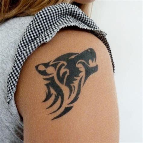 tatouage loup tribal tatouage loup sur modele2tatouage com