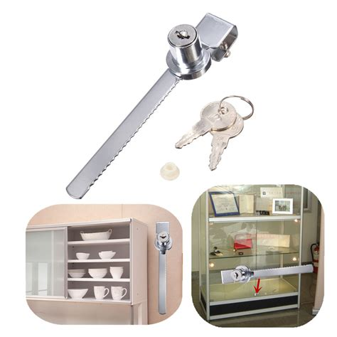 glass display cabinet with lock 2 keys keyed alike display case showcase lock sliding
