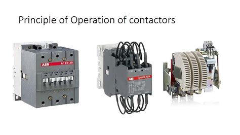 contactor operation diagram photos electrical and