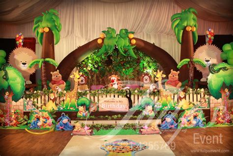 jungle themed birthday party jungle birthday party theme ideas tulips event 15 jpg 700