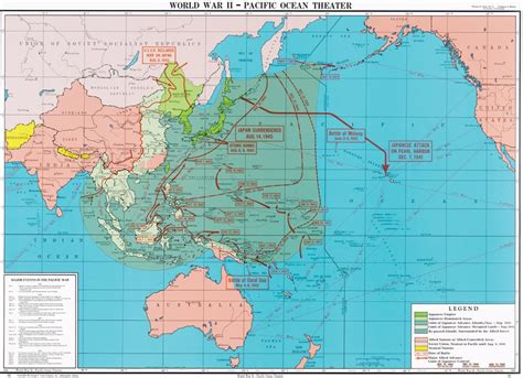 world war ii pacific theater history map