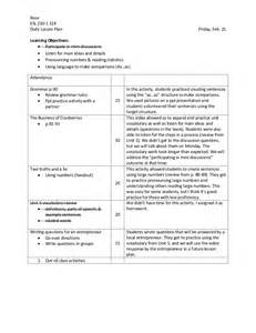 sle lesson plan with learning objectives