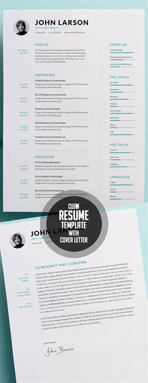 Resume Template For 50 Year by 50 Best Resume Templates For 2018 Design Graphic
