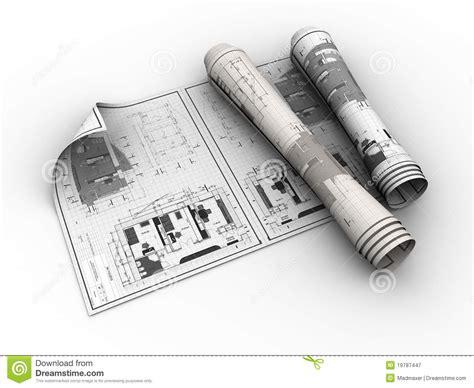 design blueprints rolled blueprints stock illustration image of improvement 19787447
