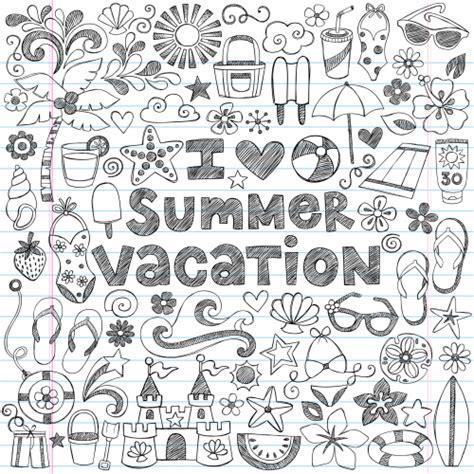 hard summer coloring pages summer vacation doodle page kidspressmagazine com