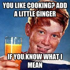 Ginger Meme - for my ginger husband teasing about his hair color never