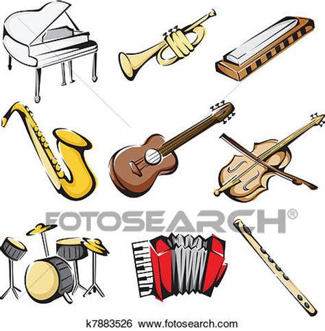 clipart strumenti musicali clip strumenti musicali icone k7883526 cerca