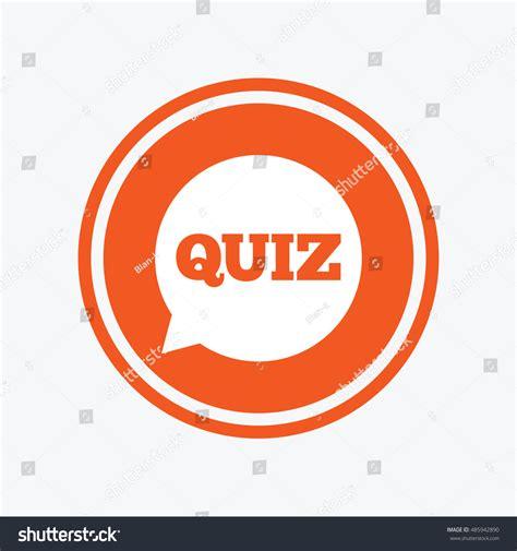 graphic design elements quiz quiz speech bubble sign icon questions stock vector