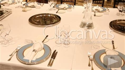fine dining table set up restaurant table fine dining stock footage hd video