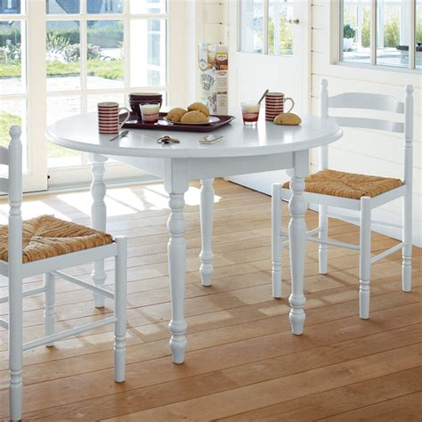 table cuisine ronde blanche table ronde 2 abattants 4 chaises blanche