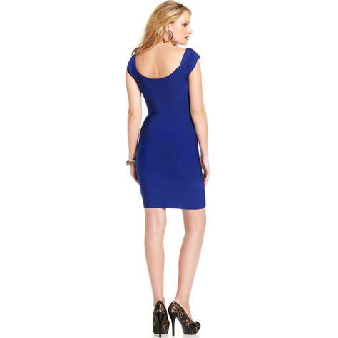 Mini Dress Busui No Defect lyst marciano bandage mini dress in blue