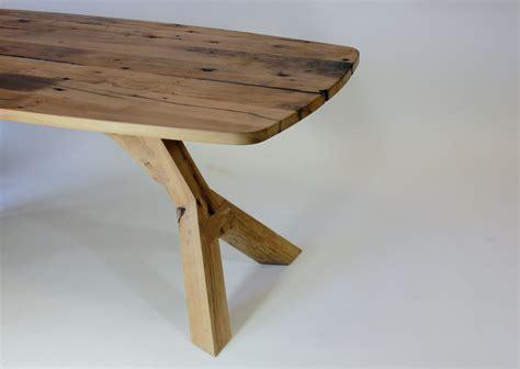 eiken tafelblad nijmegen samosa ontwerp op maat onderstel quot oversteek quot met ovaal