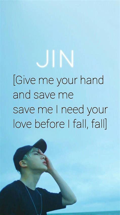 bts wallpaper lyrics bts jin save me wallpaper btsxwallpapers