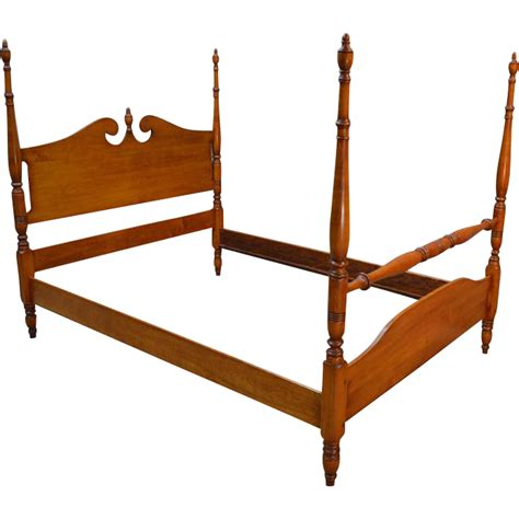 full size poster bed vintage maple pencil post full size poster bed from
