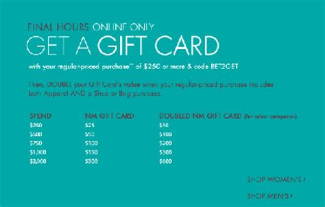 Neiman Marcus Promotional Gift Card - neiman marcus 30 off free gift card offer paperblog
