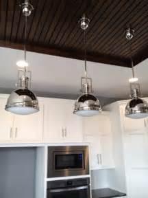 Kitchen lighting light over kitchen island using industrial pendant