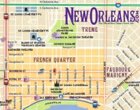 New Orleans French Quarter Tourist Map by Custom Maps And Cartography Cartagram