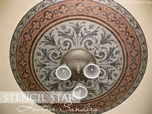 ceiling medallion stencils stencil ceiling medallion paint pattern