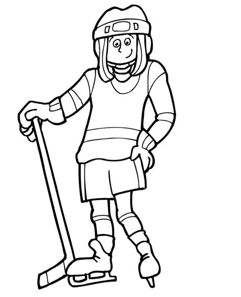 coloring pages hockey player hockey coloring page girl hockey player hockey ideas
