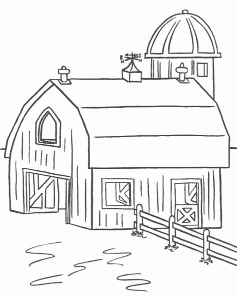 coloring book pages of barns barns and farms coloring pages farm animals farms
