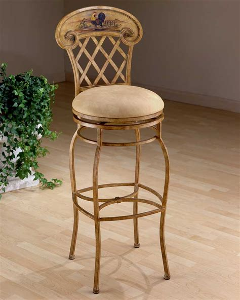 Rooster Bar Stools by Hillsdale Rooster Metal Swivel Counter Stool 41344