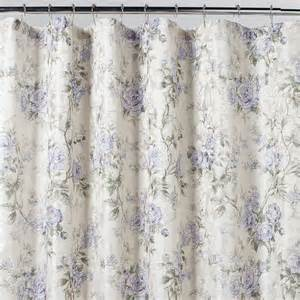 home solutions emily purple floral shower curtain shop