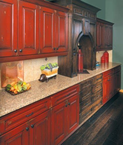 antique red kitchen cabinets make your dream of an antique style kitchen a reality