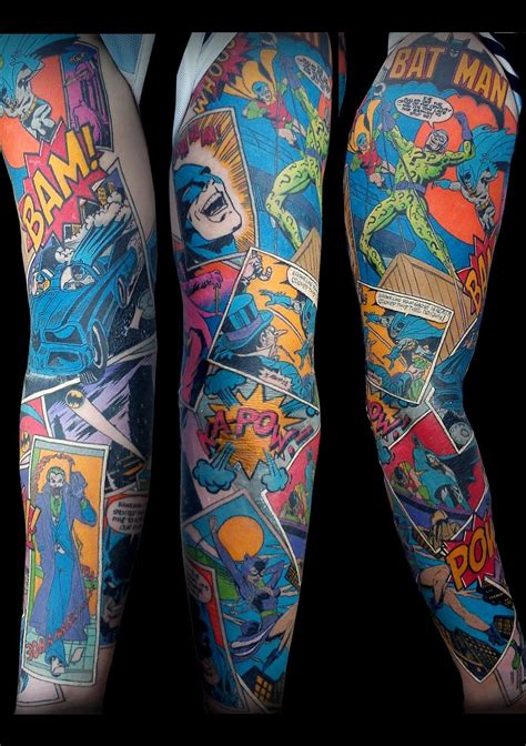 amazing tattoo sleeves sleeve this looks amazing comic book tattoos