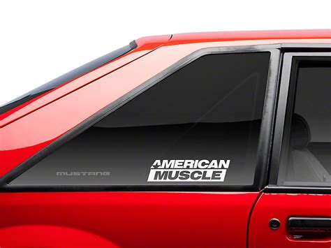 mustang back window decals american graphics mustang americanmuscle quarter