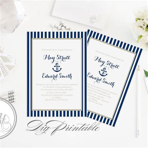 Best 25 Nautical Wedding Invitations Ideas On Pinterest Nautical Wedding Stationery Nautical Anchor Wedding Invitation Templates