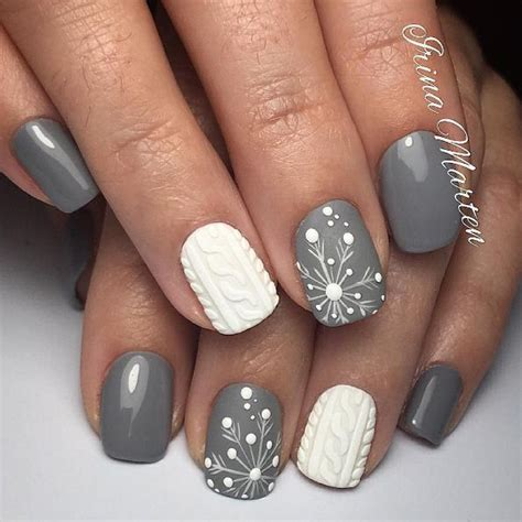 Nail 3d Professional Quality 7 grey and white nail designs маникюр видео уроки simple nail