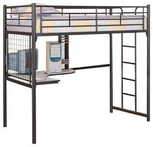 black metal guard loft bunk bed w futon upholstered