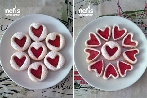 kalp kurabiye marmelatlı kalp kurabiye nefis yemek tarifleri